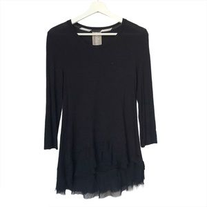 Anthropology Left Coast black high low tunic